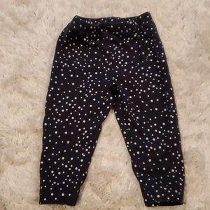 Black leggings with silver polka dots